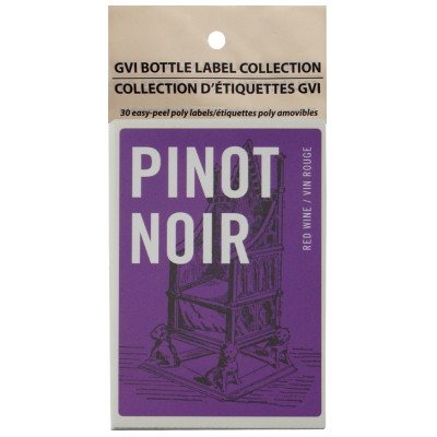 GVI Printed Wine Sticker Labels - Pinot Noir