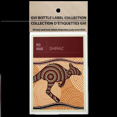 GVI Printed Wine Sticker Labels - Shiraz