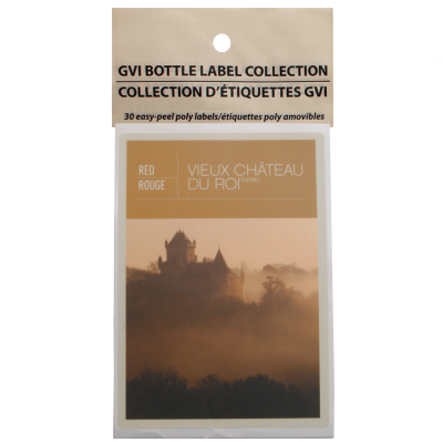 GVI Printed Wine Sticker Labels - Vieux Chateau Du Roi