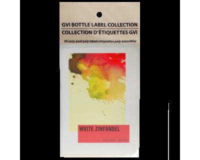 GVI Printed Wine Sticker Labels - White Zinfandel