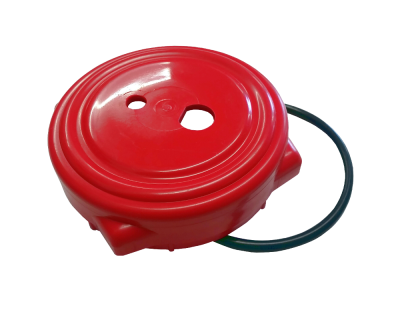 Replacement Red 4 Inch Cap For Old Type Hambleton Bard Pressure Barrels