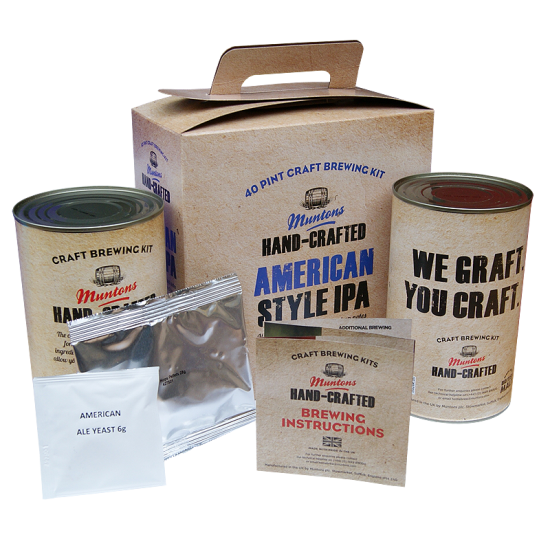 SPECIAL OFFER - Muntons Hand Crafted American IPA - 40 Pint Ingredient Kit - Dented Tins