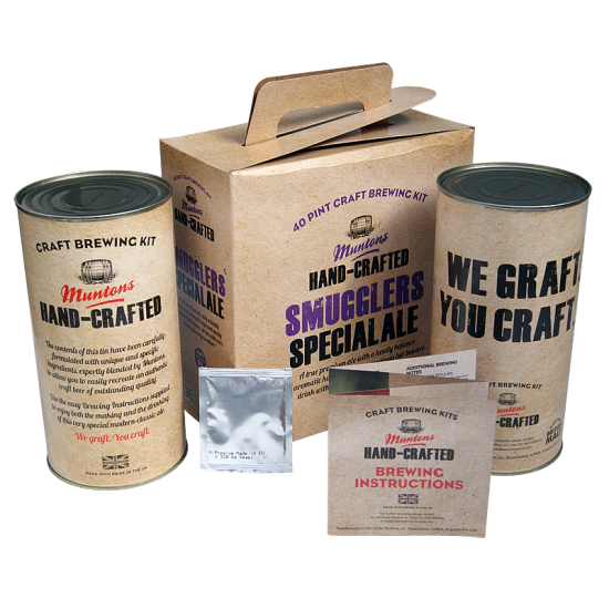 SPECIAL OFFER - Muntons Hand Crafted Smugglers Special Ale - 40 Pint Beer Kit - Damaged Box Possible Dented Tins