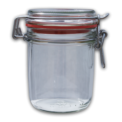 370ml Round Preserving Jar With Clip Top Lid And Seal