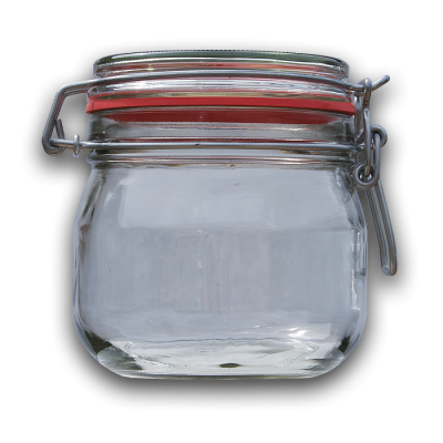 580ml Round Preserving Jar With Clip Top Lid And Seal