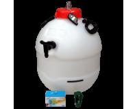 Balliihoo King Keg Premium Barrel With Co2 Injection Valve - Pressure Indicator - Co2 Bulbs - Bulb Holder