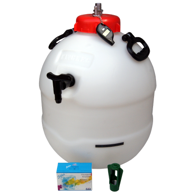 Balliihoo King Keg Premium Barrel With Co2 Pressure Top Up Valve - Pressure Indicator - Co2 Bulbs - Bulb Holder
