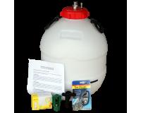 King Keg Bottom Tap 5 Gallon Barrel With Balliihoo Cap - Pressure Indicator - Bulbs & Holder