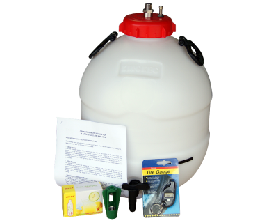 King Keg Bottom Tap 5 Gallon Barrel With Balliihoo Cap - Pressure Indicator - Bulbs & Holder