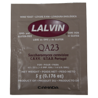 SPECIAL OFFER - Lalvin QA23 - 5g Sachet Of White Wine Yeast - Short BBE