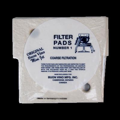 Buon Vino Mini-Jet Coarse Filter Pads No1 - Pack Of 3