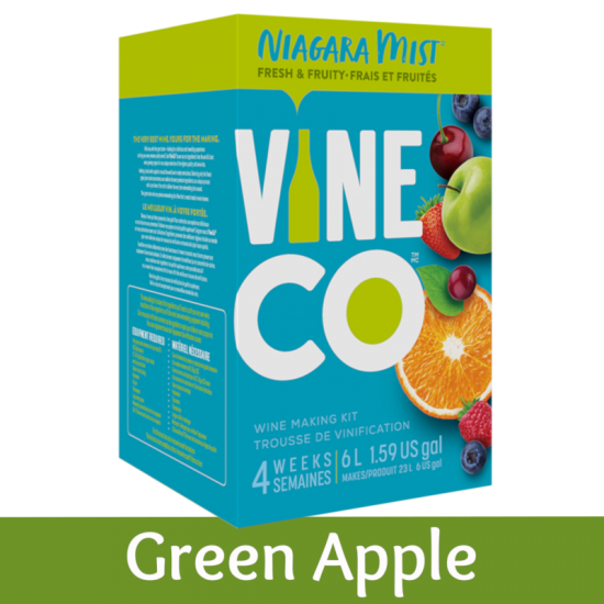 Niagara Mist 30 Bottle Light Wine Ingredient Kit - Green Apple