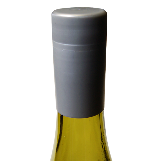 Novatwist Plastic Screw Caps For Wine Bottles - Silver - Pack Of 12