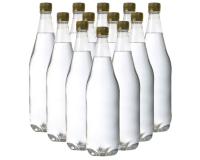 1 Litre PET (Plastic) Clear Bottles - Pack Of 24