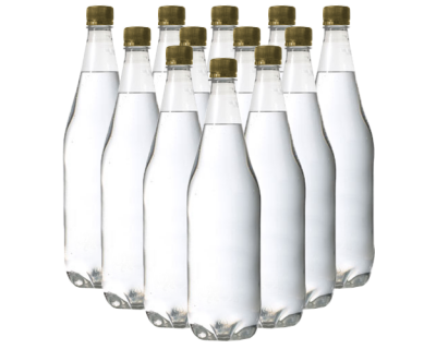 1 Litre PET (Plastic) Clear Bottles - Pack Of 24