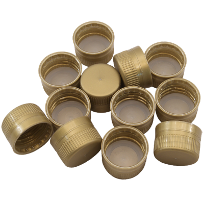 Gold Screw Caps For 1L PET Bottles And Coopers Plastic Beer Bottles - 24 Pack