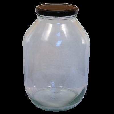 Half Gallon Pickle Jar With Black Twist Off Lid