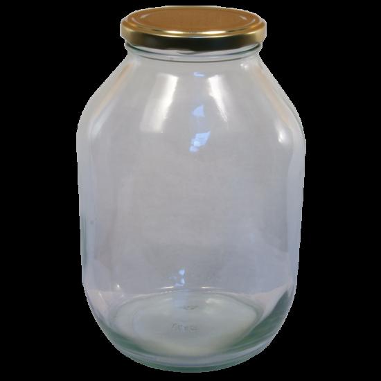 Half Gallon Pickle Jar With Gold Twist Off Lid