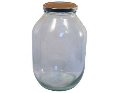 Half Gallon Pickle Jar With Silver Twist Off Lid