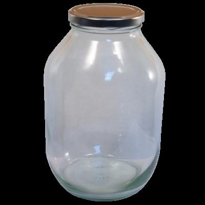 Half Gallon Pickle Jar With Silver Twist Off Lid
