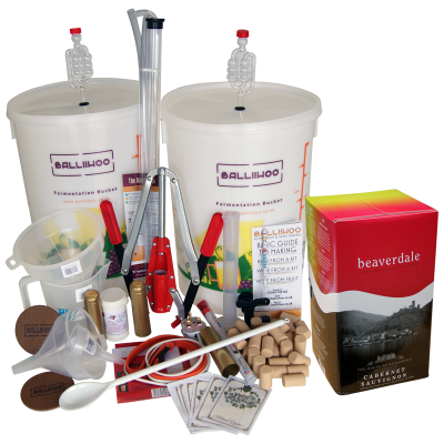 Premium 30 Bottle Wine Making Set With Cabernet Sauvignon Ingredient Kit
