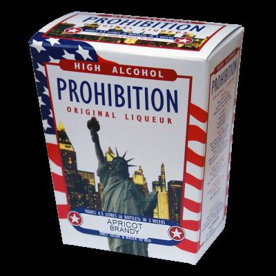 Prohibition Apricot Brandy - High Alcohol Liqueur Ingredient Kit