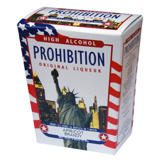 SPECIAL OFFER - Prohibition Apricot Brandy High Alcohol Liqueur Ingredient Kit - Expired BBE