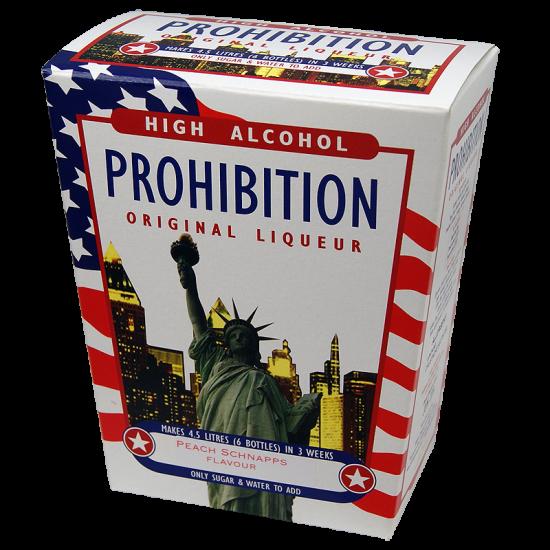 Prohibition Peach Schnapps - High Alcohol Liqueur Ingredient Kit
