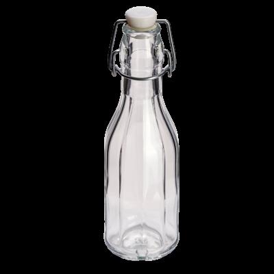 250ml Decagon (10 Sided) Glass Swing Top Bottle