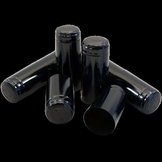Shrink Capsules Black - Pack of 30