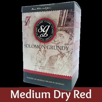 Solomon Grundy Classic 30 Bottle - Medium Dry Red Wine Ingredient Kit