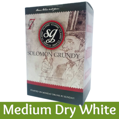 SPECIAL OFFER - Solomon Grundy Classic 30 Bottle Wine Ingredient Kit - Medium Dry White - Damaged Box