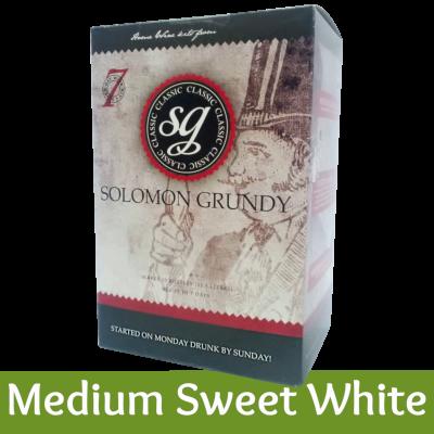 Solomon Grundy Classic 30 Bottle - Medium Sweet White Wine Ingredient Kit