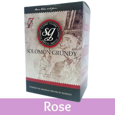 SPECIAL OFFER - Solomon Grundy Classic 30 Bottle Wine Ingredient Kit - Rose - Damaged Box