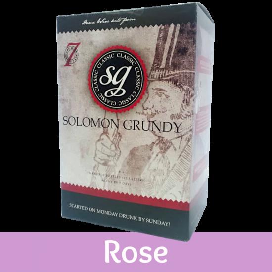 Solomon Grundy Classic - 30 Bottle Rose Wine Ingredient Kit
