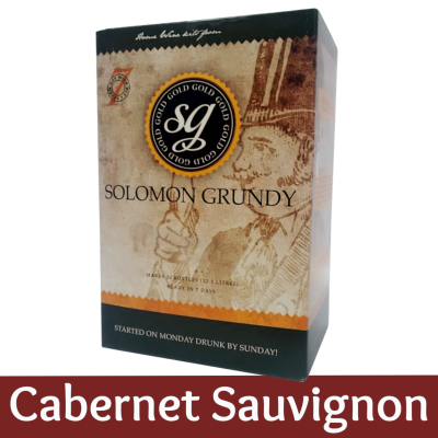 Solomon Grundy Gold 30 Bottle Red Wine Ingredient Kit - Cabernet Sauvignon