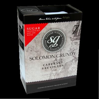 SPECIAL OFFER - Solomon Grundy Platinum 30 Bottle Wine Ingredient Kit - Cabernet Sauvignon - Damaged Box