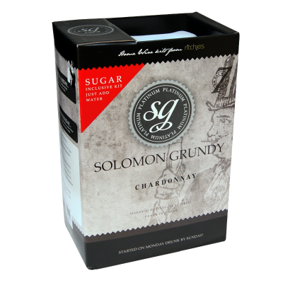 Solomon Grundy Platinum 30 Bottle - Chardonnay