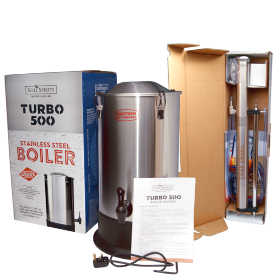 Still Spirits Turbo 500 - T500 - Complete Set - Boiler And Stainless Steel Column