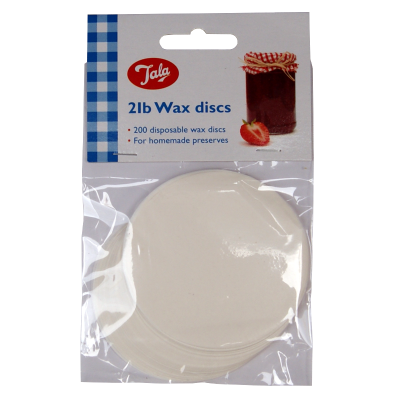 Pack Of 200 Wax Discs - 7cm Diameter - To Fit Traditional 2lb Jam Jars