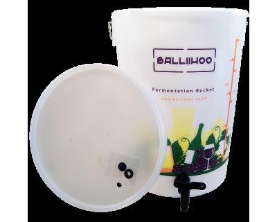 Balliihoo 5 Gallon / 25 Litre Fermentation Bucket With Lever Tap & LCD Temperature Indicator
