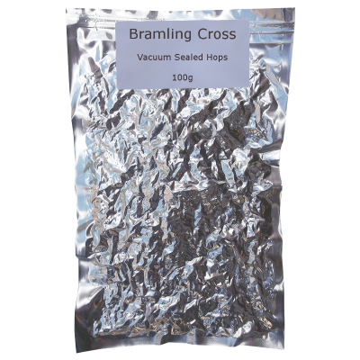 100g Vacuum Foil Packed - Bramling Cross Whole Leaf Hops