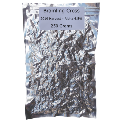 SPECIAL OFFER - 250g Vacuum Foil Packed - Bramling Cross Whole Leaf Hops - 2019 Harvest