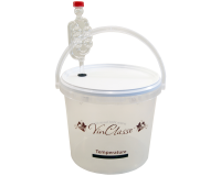 VinClasse 5 Litre Clear Fermenting Bucket With Airlock & LCD Temp Strip