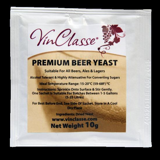 Vinclasse Premium Beer Yeast 10g Sachet