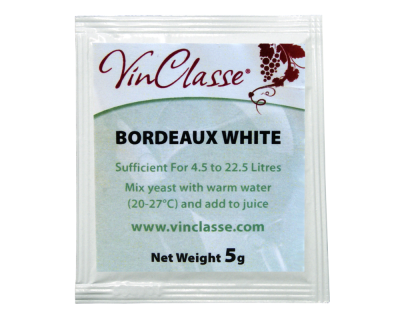 VinClasse Bordeaux White Wine Yeast - 5 Gram Sachet