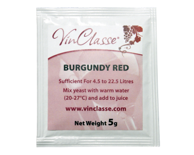 VinClasse Burgundy Red Wine Yeast - 5 Gram Sachet