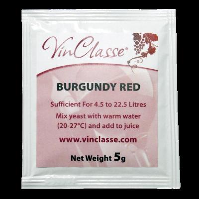 VinClasse Burgundy Red Wine Yeast - 5 Gram Sachet