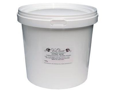 VinClasse Citric Acid 10Kg Bucket