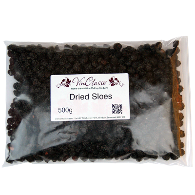 Dried Sloes - 500g Bag